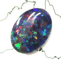 Australian 18x13x4mm Natural Black Triplet Opal Stone For Ring Pendant Bracelet