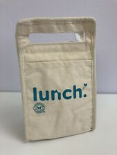 The Honest Company Cotton Canvas Insulated Lunch Printed Box Bag Packable Nwot
