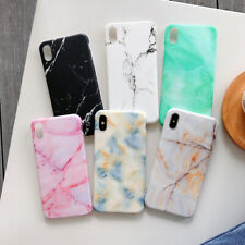 For Samsung Galaxy Note 10 Plus A50 S9 Granite Marble Soft Silicone Cover Case