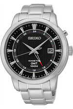 SEIKO SUN033P1,Men's KINETIC GMT,BRAND NEW,date,100m WR,SUN033