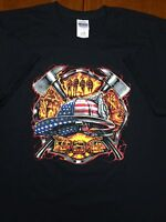 Firefighter American Patriotic Supporter T-Shirt