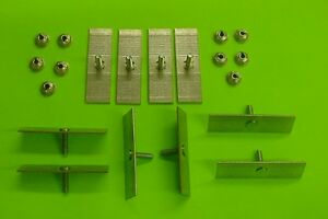 10 Caddy Body Side Moulding Fasteners 2-1/2 x 3/4 Perforated Clips Bolts NOS 378