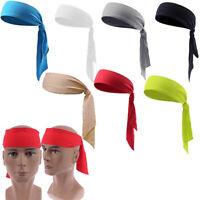 Men Women Head Tie Headband Outdoor Sports Headband Sweat Band Hair Sweatband BF
