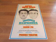 TRUMPETS AND RASPBERRIES Gwen Taylor / Rhys Jones PHOENIX Theatre Poster