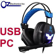 Genuine SADES USB Xpower Plus SA-706s PC Gaming Headset Noise Reduction Mic Chat