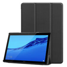 Huawei T5 Flip Cover Trifold PU Leather Stand Protective Flip Case for MediaPad