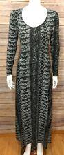 M60 MIss Sixty Womens Modest Maxi Dress Sz. 4 Animal Snake Stretch Knit