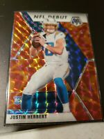 2020 Panini Mosaic JUSTIN HERBERT RC Rookie Red Prizm NFL DEBUT #263 CHARGERS