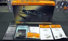 Eduard 1/48 F6F-5 Hellcat 8222 w/Aires Resin Cockpit set + Quickboost