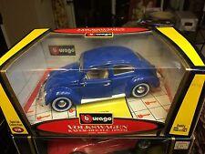 Bburago 1955 VW Volkswagen Beetle Kafer Coupe Blue COD. 30061 1/18 Rare!