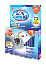 Sani Sticks 24 Pk Keeps Drains and Pipes Clear & Odor Free As Seen On TV