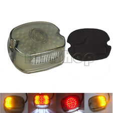 Smoke LED Tail Brake Turn Light For Harley Sportster Softail Dyna Lay Down 91-10