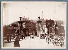 France, Lyon  Vintage citrate print.  Tirage citrate  13x18  Circa 1895