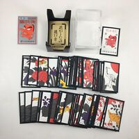 Japanese Hanafuda Gin Tengu Deck of 48 Flower Game Cards Set, Made in Japan