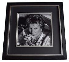 Rod Stewart SIGNED Framed LARGE Square Photo Autograph display Music AFTAL COA