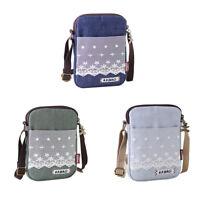 Women Canvas Cell Phone Wallet Pouch Shoulder Bag Handbag Purse Pocket 3 Colors