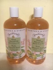2 Crabtree and Evelyn Sweet Almond Oil Bath & Shower Gel Each16.9 oz New 0105B