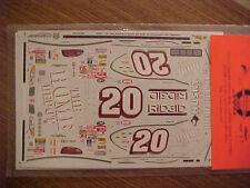 2000 TONY STEWART #20 HOME DEPOT 1/24-1/25 SCALE SLIXX  WATER SLIDE DECAL SHEET