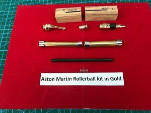 Aston Martin Rollerball Kit in Gold with drilled Olive Blanks&Bushes (SPECIAL)2