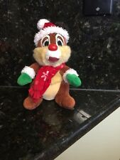 Disney Parks Chip and Dale Christmas Holiday Plush Doll Just One See Pic