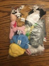 10 Pack Of Soft Plush Animal Finger Puppets New Cute Gift!