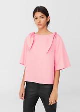 Mango Bow Poplin Blouse Pink Size UK 10 rrp £29.99 DH170 ii 18