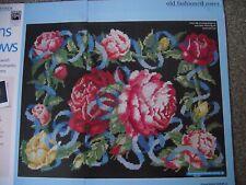 agitant rubans cross stitch chart Lavish Floral Sampler romantique roses