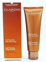 Clarins Self Tanning Milky-Lotion w/Fig Extract 4.2 oz/ 125 ml New In Box