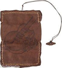MR Tabatière Gitarre / Blague à tabac / 16,5 cm / Cuir brun Ancien / Sangle en