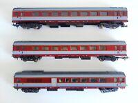 LIMA, 3X carrozze passeggeri  SNCF, Grand Confort A8 scala H0 cod. 9129 - 9311