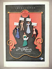 Jose Fels Textiles PRINT AD - 1947 ~ fashion, fabric ~ Ricard art