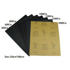 "7pcs a Pack Sandpaper Abrasive Paper Sheets 400 - 2000 Grit 9"" x 11"" Wet / Dry"