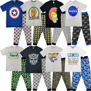 Mens Character Pyjama Set Pjs Pyjamas T-Shirt Bottoms Lounge Nightwear Gift S-XL