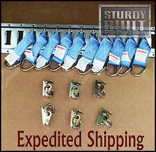 16PCS 10x XHD E Track Tie Offs & 6x E Track Ring Truck f Cargo Van Trailer Tie