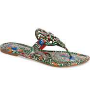 "NIB Tory Burch Miller Patent Leather ""Something Wild"" Multi Sandals -Size 8M"