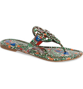"""NEW Tory Burch Miller Patent Leather """"Something Wild"""" Multi Sandals-Size 7.5M"""