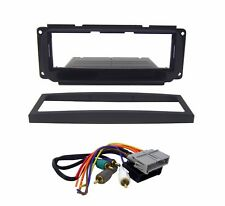 Radio Replacement Dash Kit 1-DIN w/Amp Harness for Chrysler/Dodge/Jeep/Plymouth