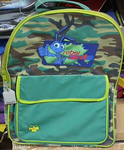 90s Disney Pixar A Bugs Life Backpack Green Camouflage Rebel Ant NEW IN PACKAGE