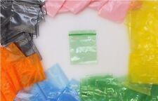 100 Druckverschlussbeutel Plastik Beutel ZIP Beutel Tütchen Grün 50x50mm NEU