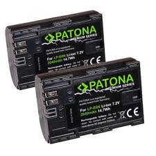 2x patonas para premium batería 2040mah para Canon EOS 80d lp-e6n lp-e6 accu con info chip