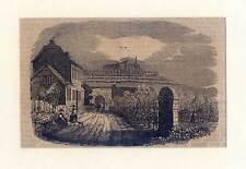Johannisberg - original Holzstich 1839