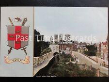 c1911 - York From City Walls & York Coat of Arms