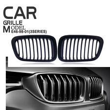 Matte Kidney Bumper Grill Grille Fit BMW E46 M3 325Ci 330Ci 328 3Series 98-01 4D