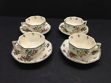 ROYAL DOULTON OLD LEEDS SPRAYS Set of 4 Cups & Saucers china plates replacement