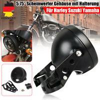 """5.75"""" 5-3/4 Motorrad Scheinwerfer Gehäuse mit Halterung Für Harley Suzuki Yamaha"""