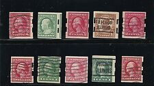 US STAMPS Washington Franklin group of unidentified Schermack issues +   (607)