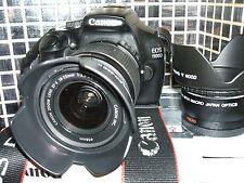 Canon EOS 1100D 12.2 MP Digital SLR Camera +THREE LENSES  EF-S IS 18-55mm...
