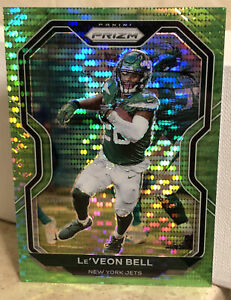 2020 Panini Prizm Football #30 Le'Veon Bell RARE NEON Green Parallel Refractor