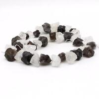"15"" Natural Gemstone Smoked stone Freeform Beads 8-14mm Side Drilled Jewelry DIY"