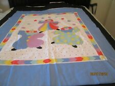 Cotton Baby Quilt Top - Complete W/ Batting & Backing-Front Is A Clown Cheater'S